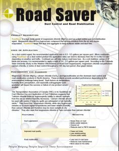 RoadSaver Dust Control