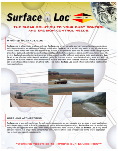 Surface Loc Brochure