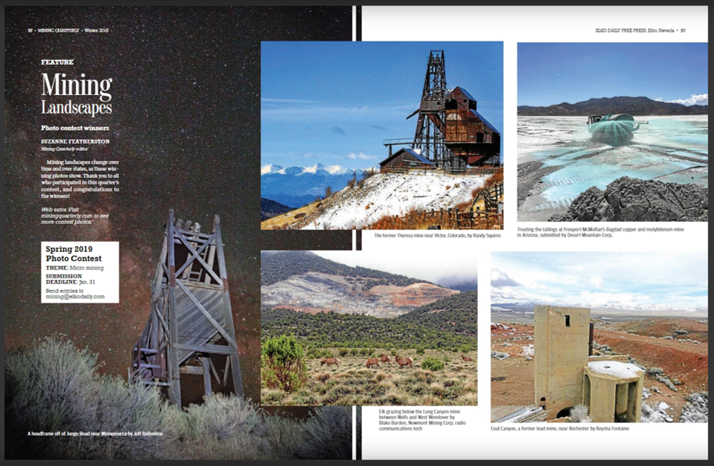 Mining-Quarterly-Winter-2018-Mining-Landscapes-Photo-Contest-Winners Desert Mountain Featured in Mining Quarterly
